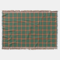 Scottish Clan Pollock Tartan Throw Blanket