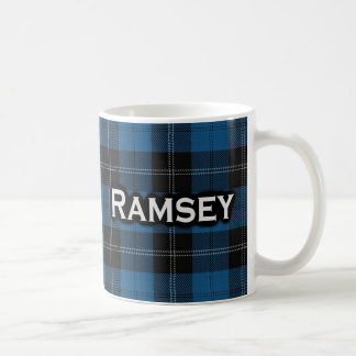 Scottish Clan Ramsay Ramsey Blue Hunting Tartan Coffee Mug