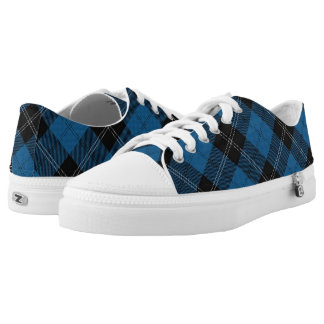 Scottish Clan Ramsay Ramsey Blue Hunting Tartan Low-Top Sneakers