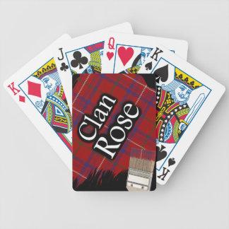Scottish Clan Rose Tartan Paint Brush Bicycle Playing Cards