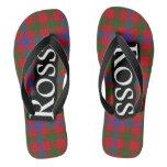 Scottish Clan Ross Tartan Flop Flops Flip Flops