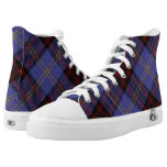 Scottish Clan Rutherford Tartan High-Top Sneakers