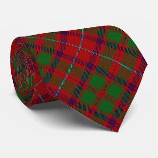 Scottish Clan Shaw Letter S Monogram Red Tartan Tie