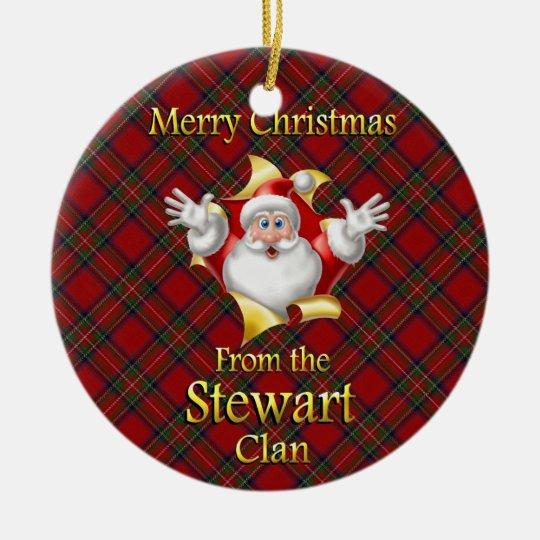 Scottish Clan Stewart Christmas Ornament | Zazzle.com