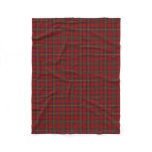 Scottish Clan Stewart Royal Red Classic Tartan Fleece Blanket