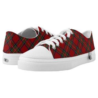 Scottish Clan Stewart Stuart Royal Red Tartan Low-Top Sneakers