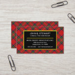 Scottish Clan Stewart Tartan Plaid Business Card