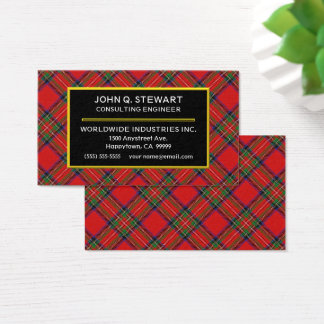 Scottish Clan Stewart Tartan Plaid Business Card