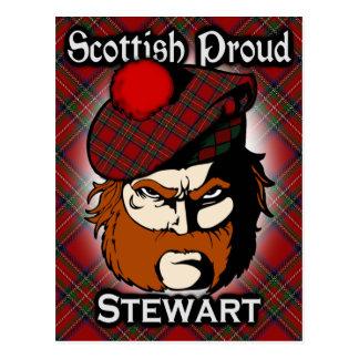 Scottish Clan Stewart Tartan Postcard