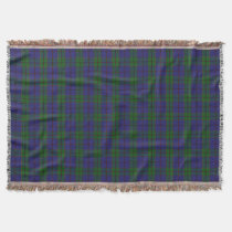 Scottish Clan Strachan Tartan Throw