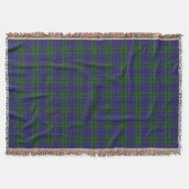 Scottish Clan Strachan Tartan Throw Blanket
