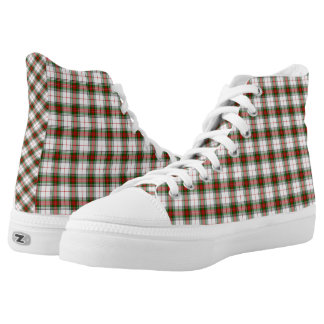 Scottish Clan Stuart Dress Tartan Plaid High-Top Sneakers