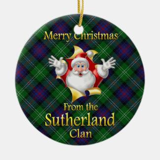Scottish Clan Sutherland Christmas Ornament
