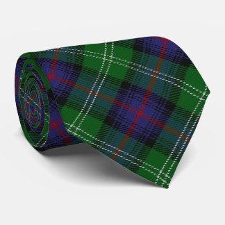 Scottish Clan Sutherland Letter S Monogram Tartan Neck Tie