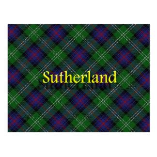 Scottish Clan Sutherland Postcard