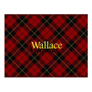 Scottish Clan Wallace Tartan Postcard