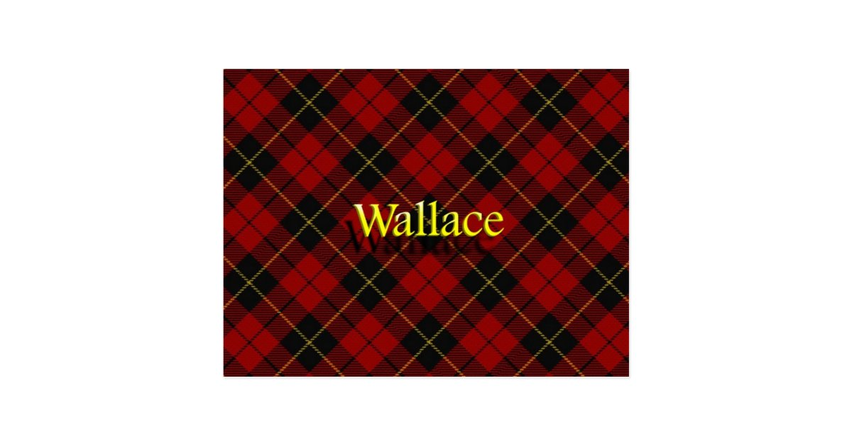 Scottish Clan Wallace Tartan Postcard Zazzle Com