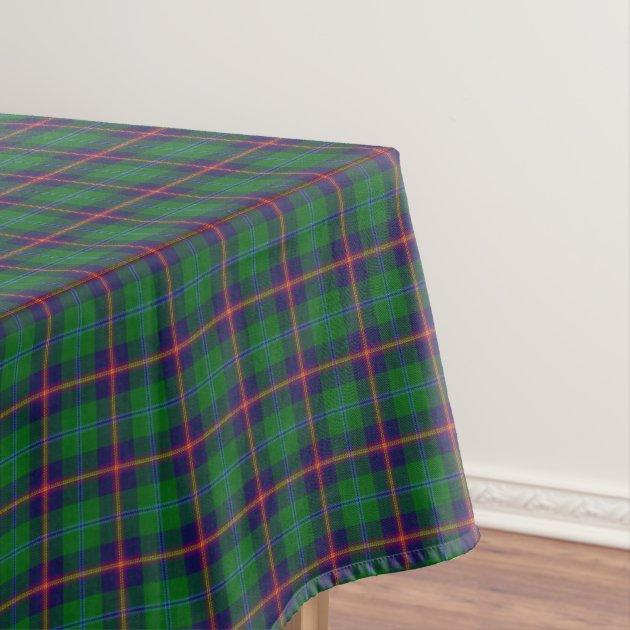 Scottish Clan Young Green Purple Yellow Tartan Tablecloth | Zazzle.com
