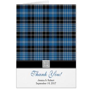 Scottish Clark Tartan Wedding Thank You Card