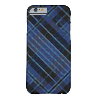 Scottish Clergy Blue Black and White Tartan Plaid Barely There iPhone 6 Case