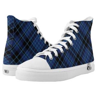 Scottish Clergy Tartan Plaid High-Top Sneakers