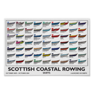 Scottish Coastal Rowing Poster(A4), 5 yr. v4 Poster