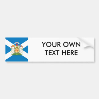 Scottish Coat of Arms and Flag Car Bumper Sticker