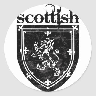 scottish coat of arms classic round sticker