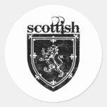 scottish coat of arms classic round sticker