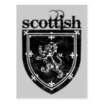 scottish coat of arms postcard