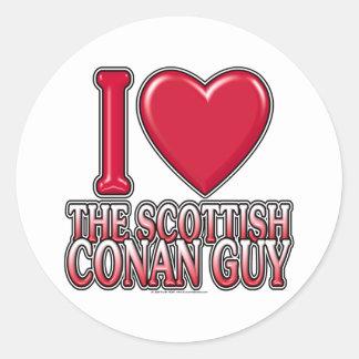 Scottish Conan Guy Classic Round Sticker