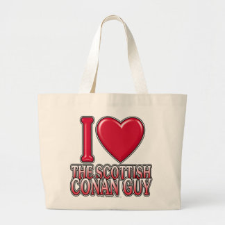 Scottish Conan Guy Large Tote Bag