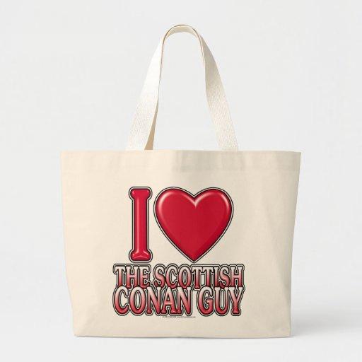 Scottish Conan Guy Large Tote Bag