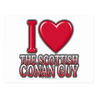 Scottish Conan Guy Postcard
