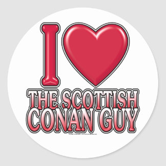 Scottish Conan Guy Stickers
