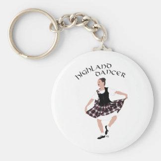 Scottish Country Dancer Basic Round Button Keychain