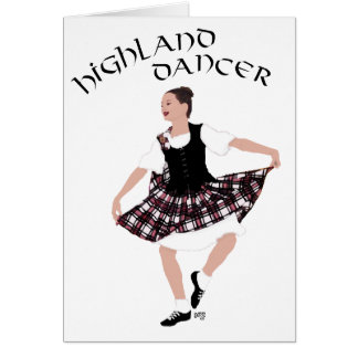 Scottish Country Dancer Card