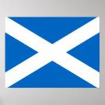 Scottish Cross Scotland Colors Poster