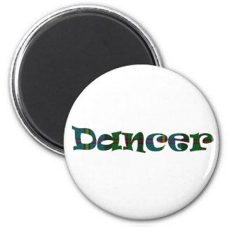 Scottish Dancer 2 Inch Round Magnet