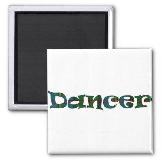 Scottish Dancer 2 Inch Square Magnet