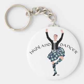 Scottish Dancer Highland Fling Basic Round Button Keychain