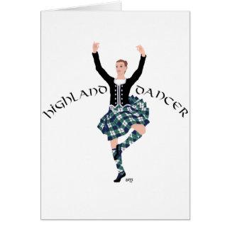 Scottish Dancer Highland Fling Card