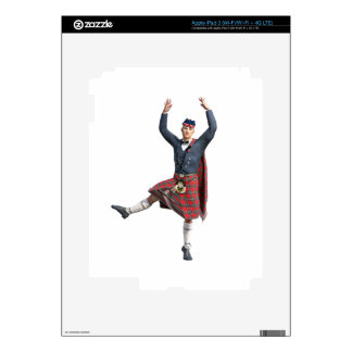 Scottish Dancer Leaping Decal For iPad 3