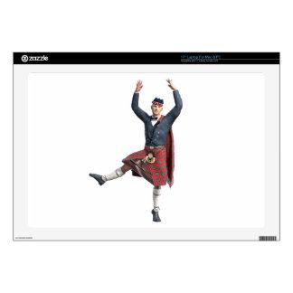 Scottish Dancer Leaping Laptop Decal