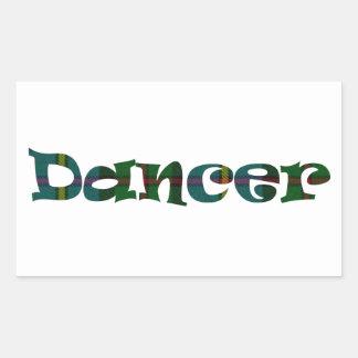 Scottish Dancer Rectangular Sticker
