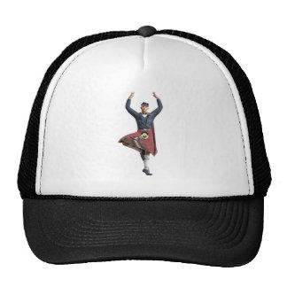 Scottish Dancer with Both Hands up Trucker Hat