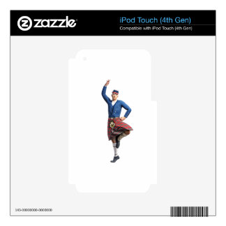 Scottish Dancer with Right Hand Up Decal For iPod Touch 4G