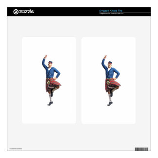 Scottish Dancer with Right Hand Up Kindle Fire Skins
