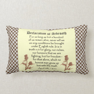Scottish Declaration of Arbroath Tartan Cushion Pillows