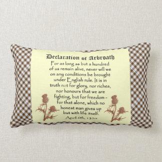 Scottish Declaration of Arbroath Tartan Cushion Throw Pillow